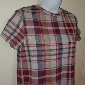 Zara Trafaluc Plaid dress👗